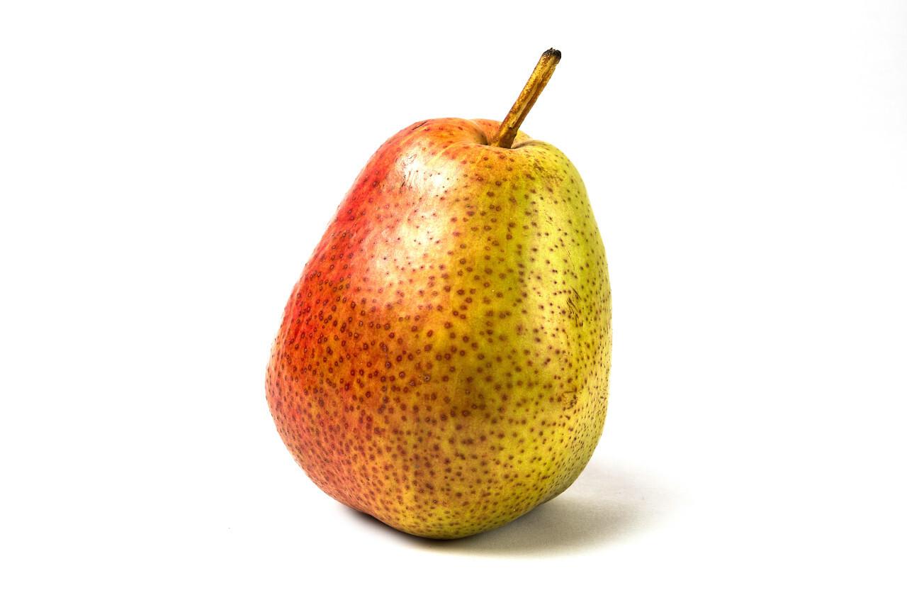 pretty pear white background