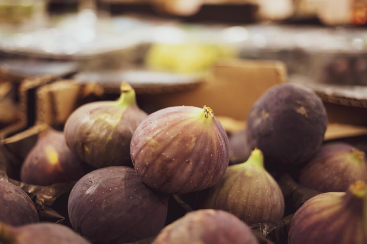 fresh figs on a market - fig fruits