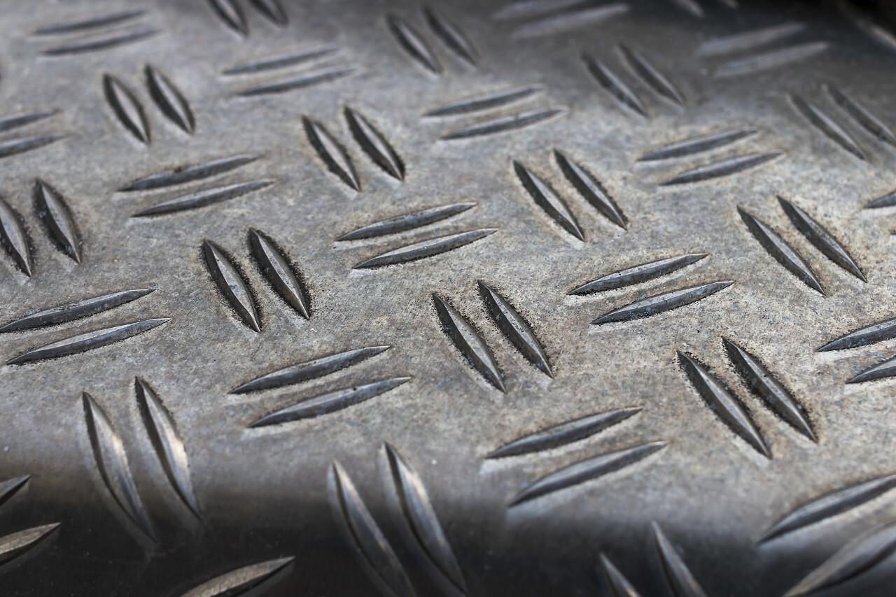 Steel diamond plate texture