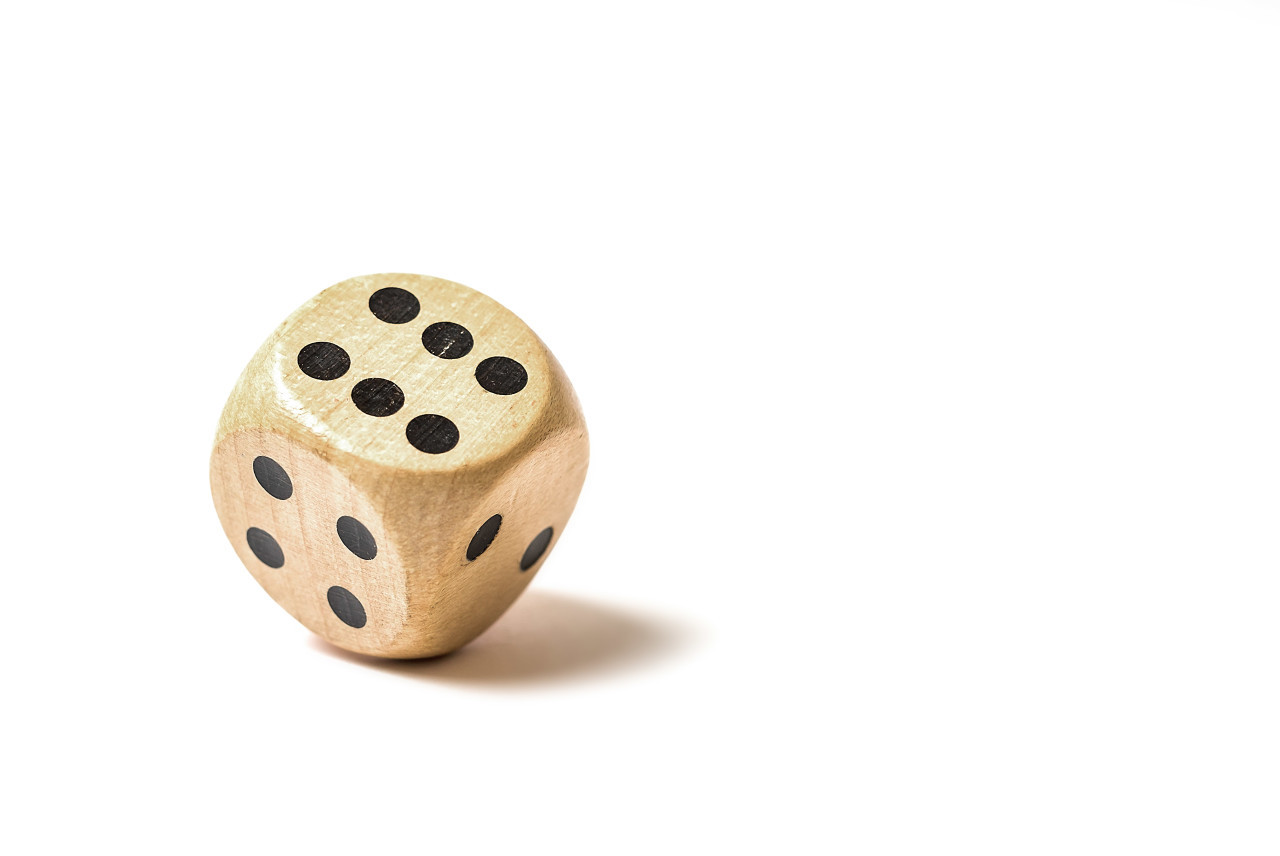 big dice white background