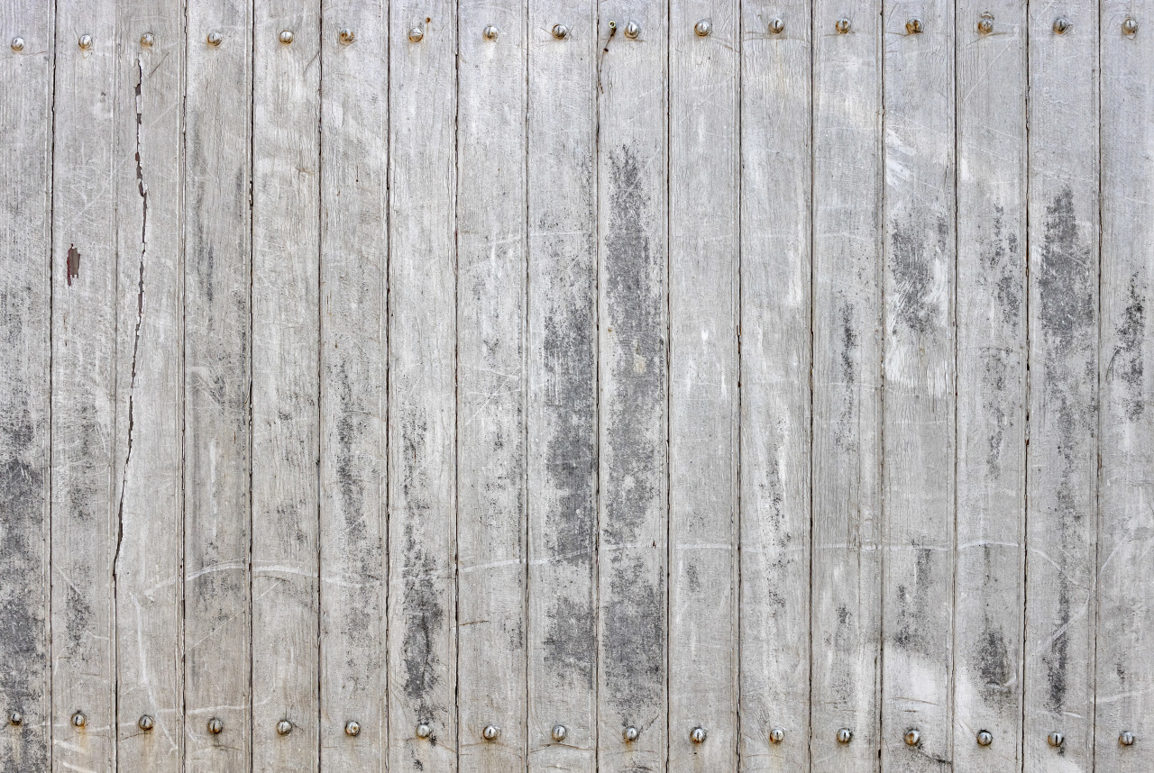 old grunge white wood background