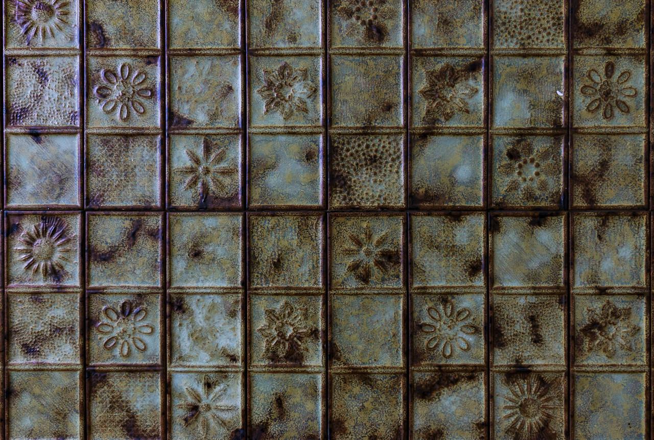 vintage old kitchen tile texture