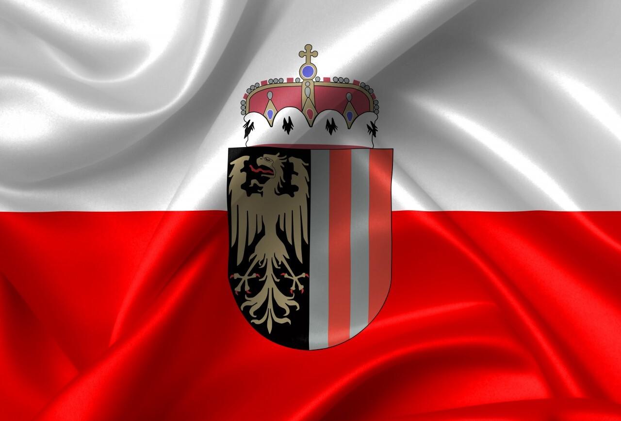 flag of upper austria country symbol illustration