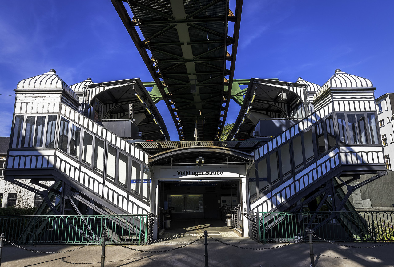wuppertal monorailstation voelklingerstrasse