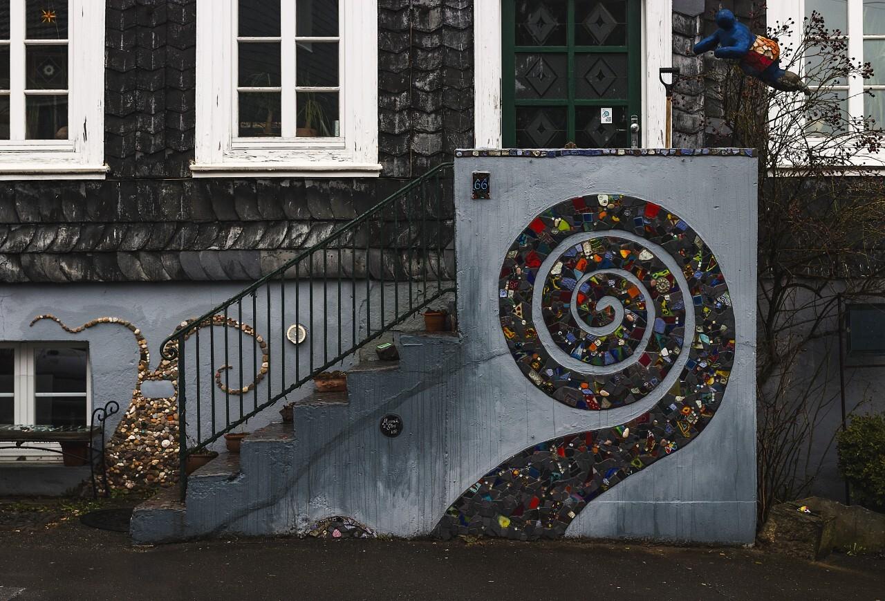urban mosaic stairs