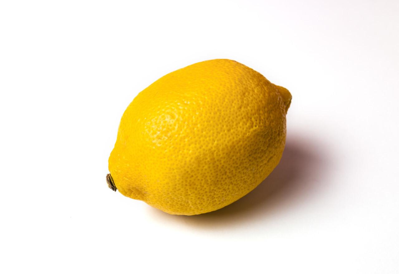 yellow lemon isolated on white background