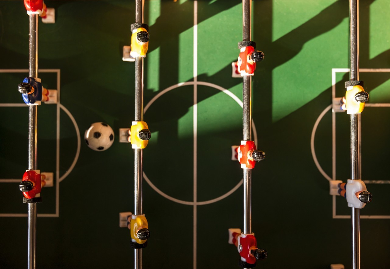 table football field from top