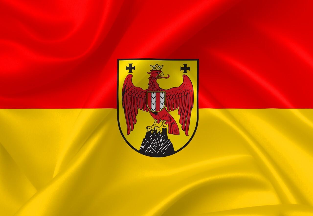 burgenland flag country symbol illustration