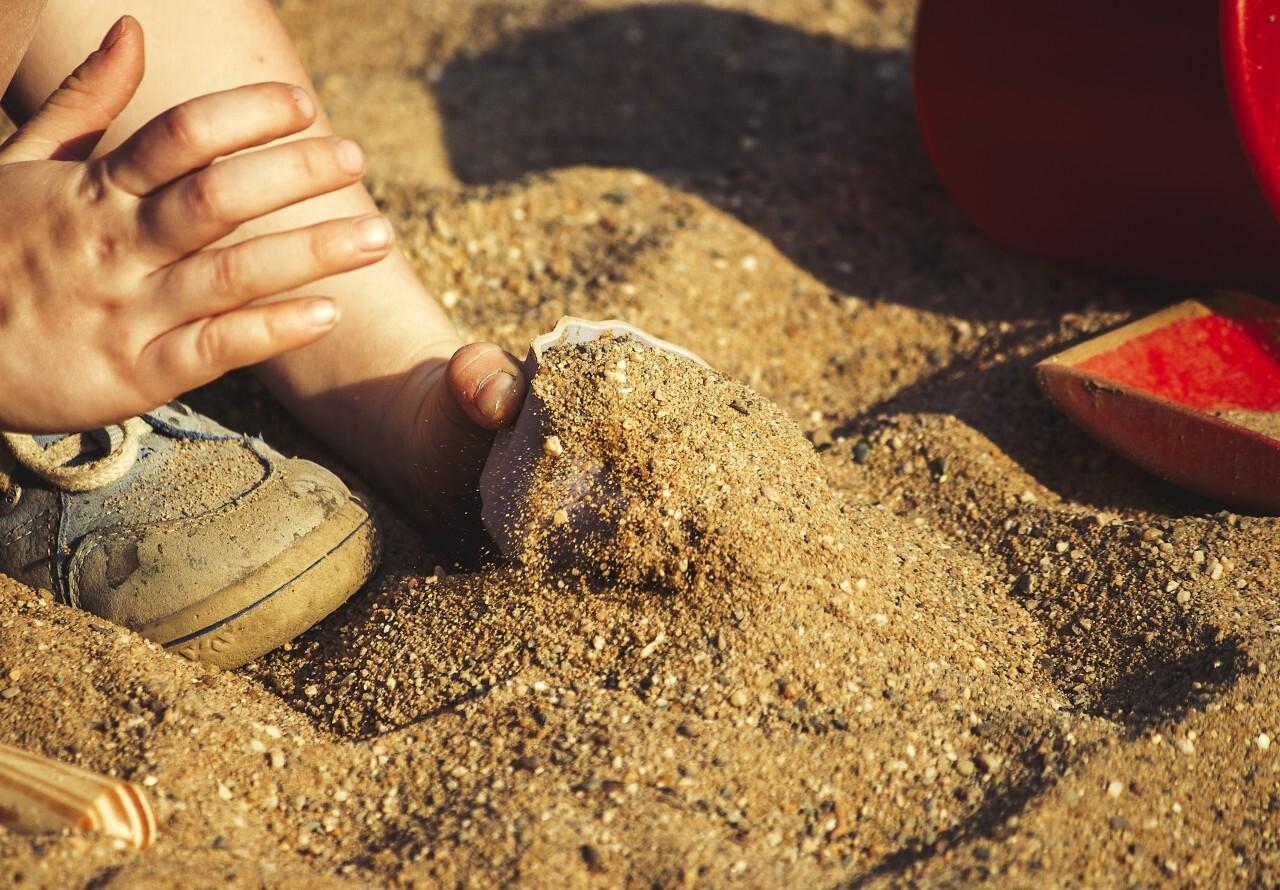 children in a sandbox