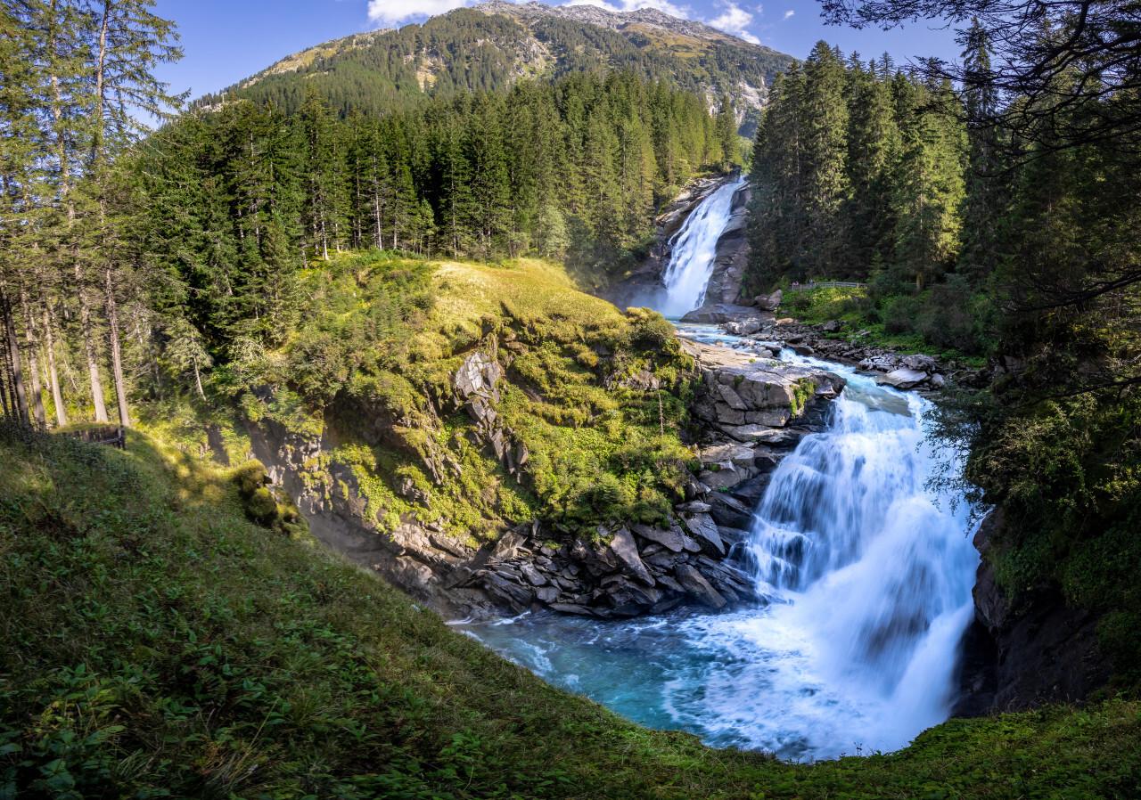Krimmler Wasserfälle Landscape in Austria