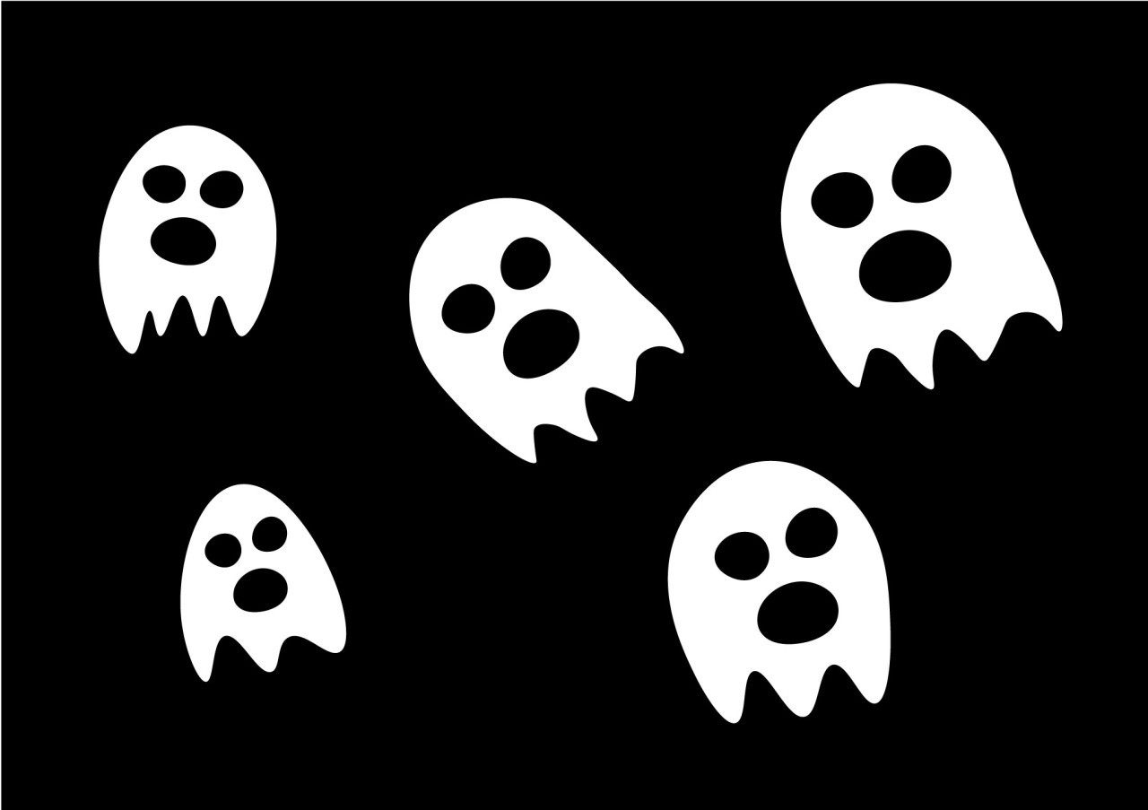 free simple ghosts vector for halloween