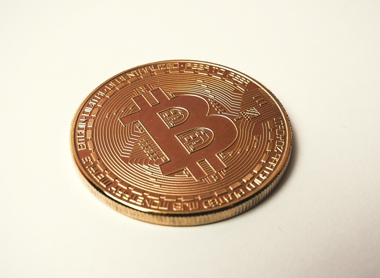 bitcoin light background