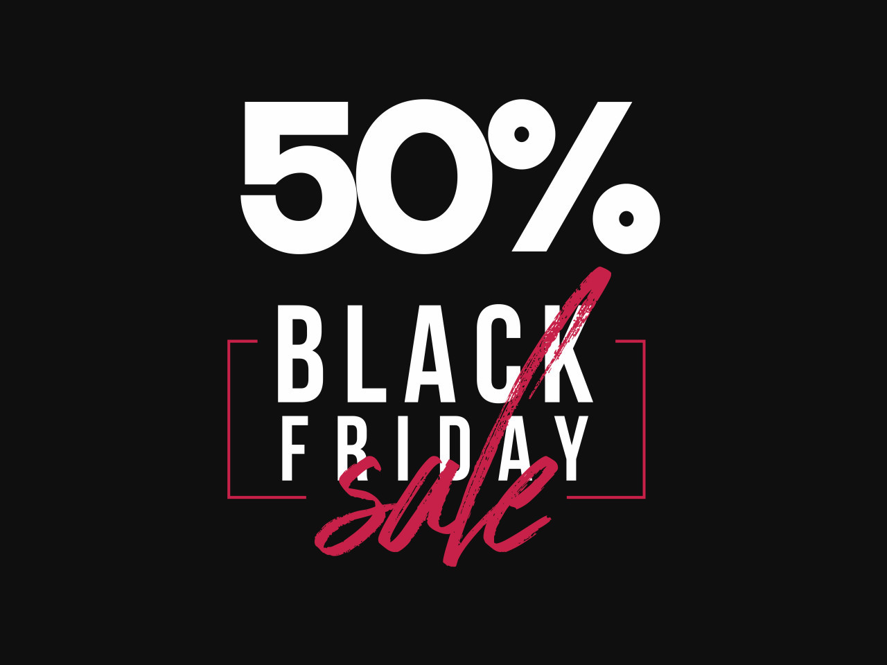Black Friday Sale Banner Template PSD