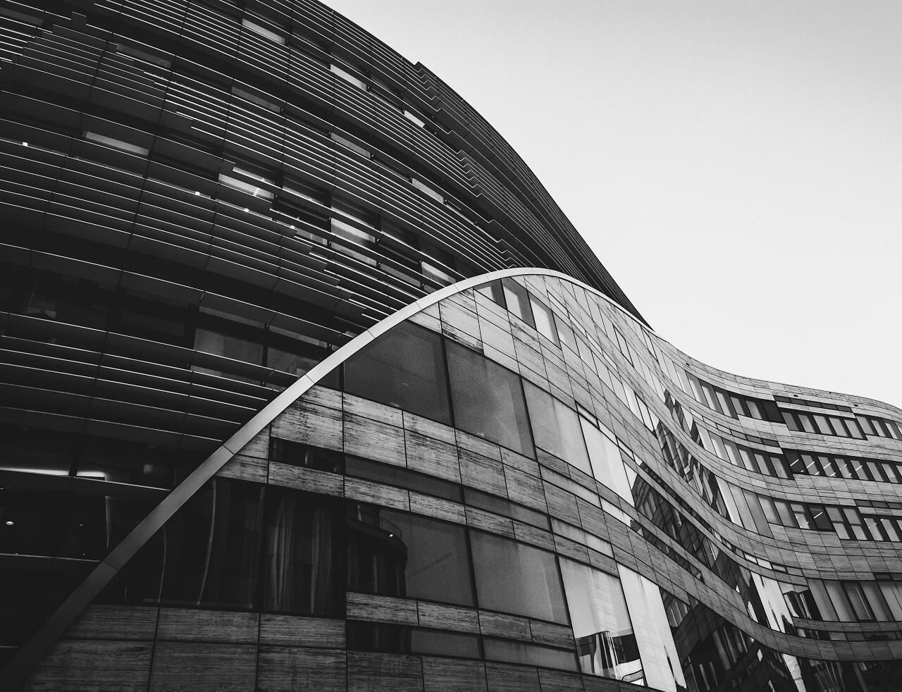 beautiful modern architecture blacknwhite