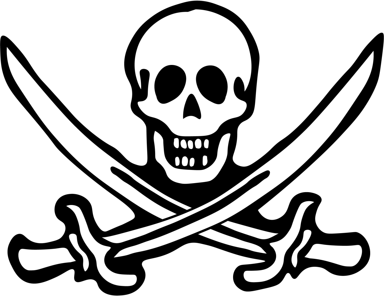 Pirate skull Vector PNG