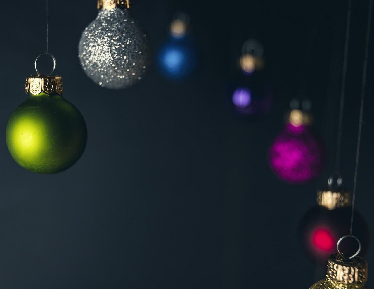 christmas tree balls green