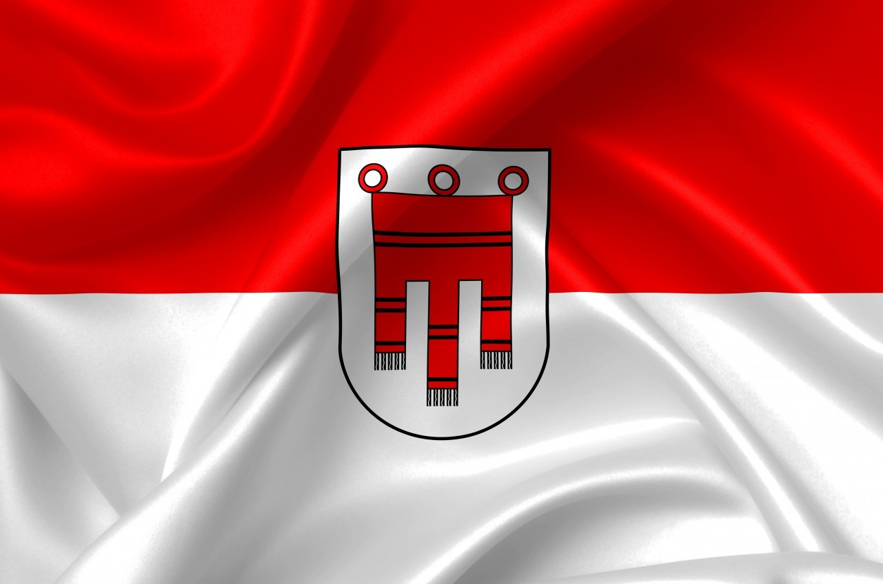 flag of vorarlberg country symbol illustration