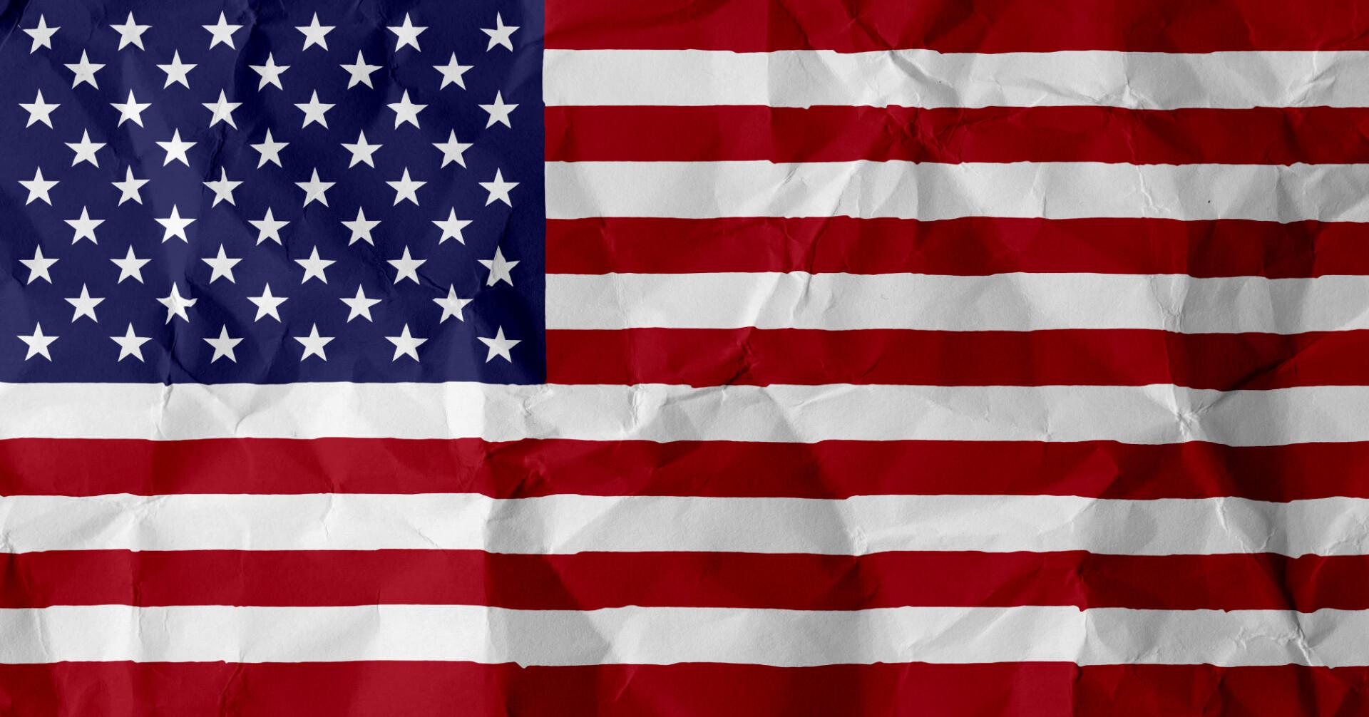 usa crumpled flag
