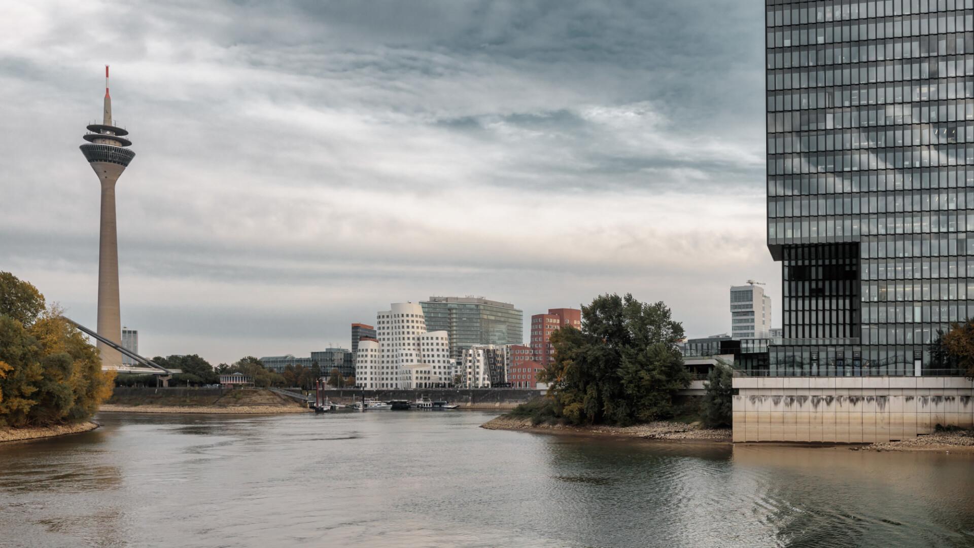 Dusseldorf city panorama