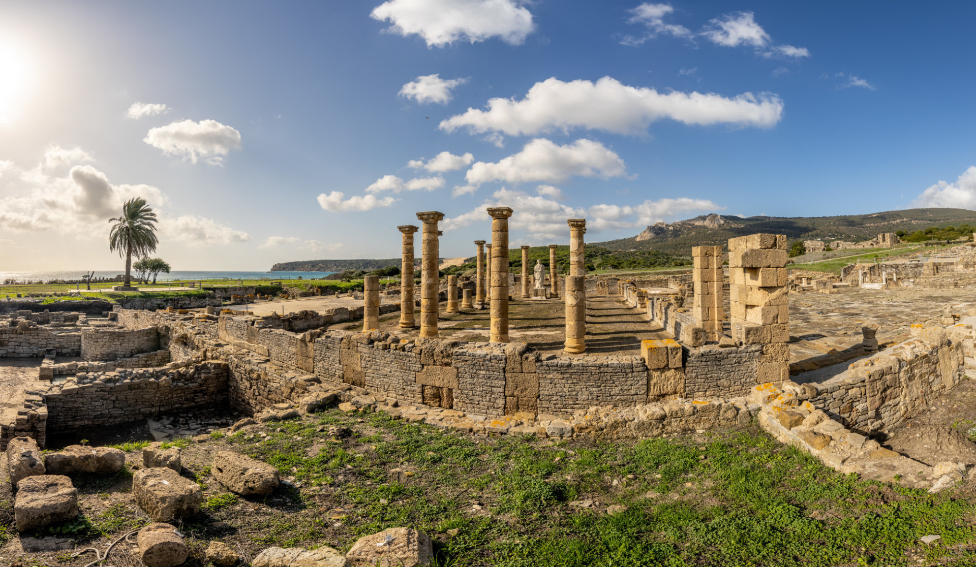 Archaeological excavation site of a Roman city in Spain
