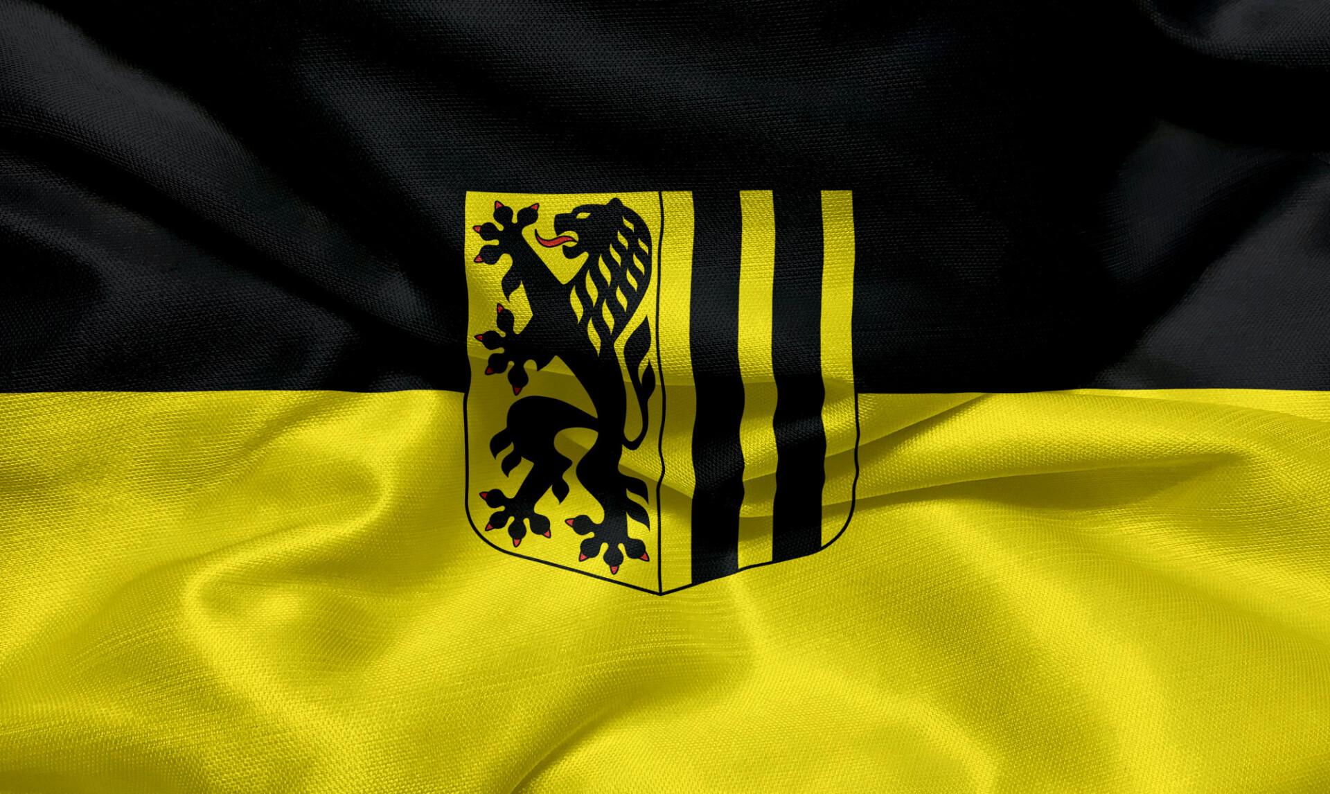 City flag of Dresden
