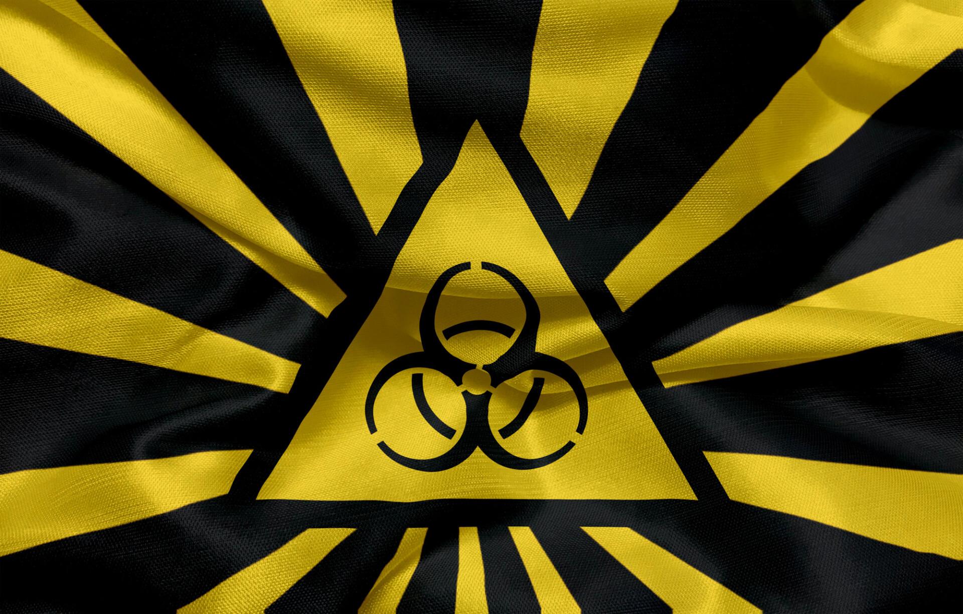 Biological hazard Symbol Flag