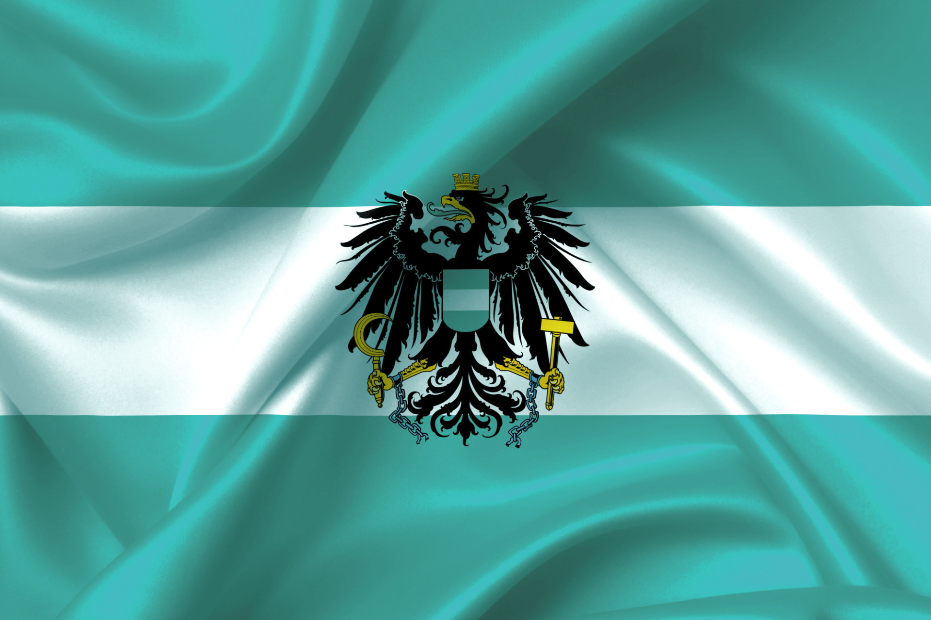 Turquoise Austria flag crisis