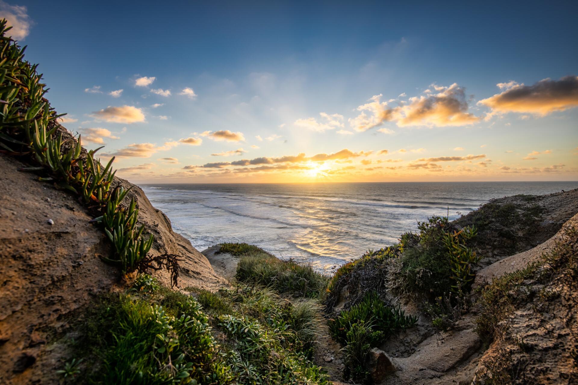 Praia do Seixo Sunset - Seascape Panorama