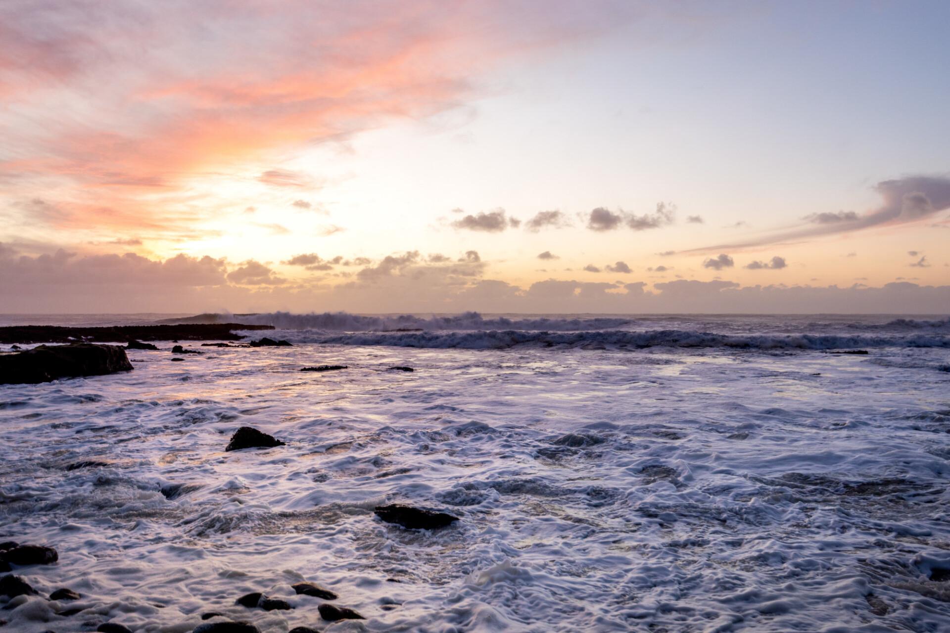 Praia do Penedo Mouro Waves Seascape in Portugal