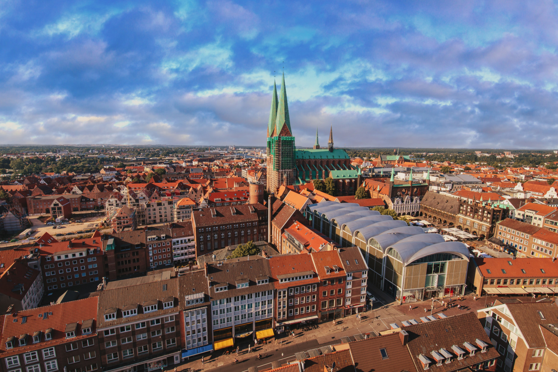 Lübeck from above Cityscape