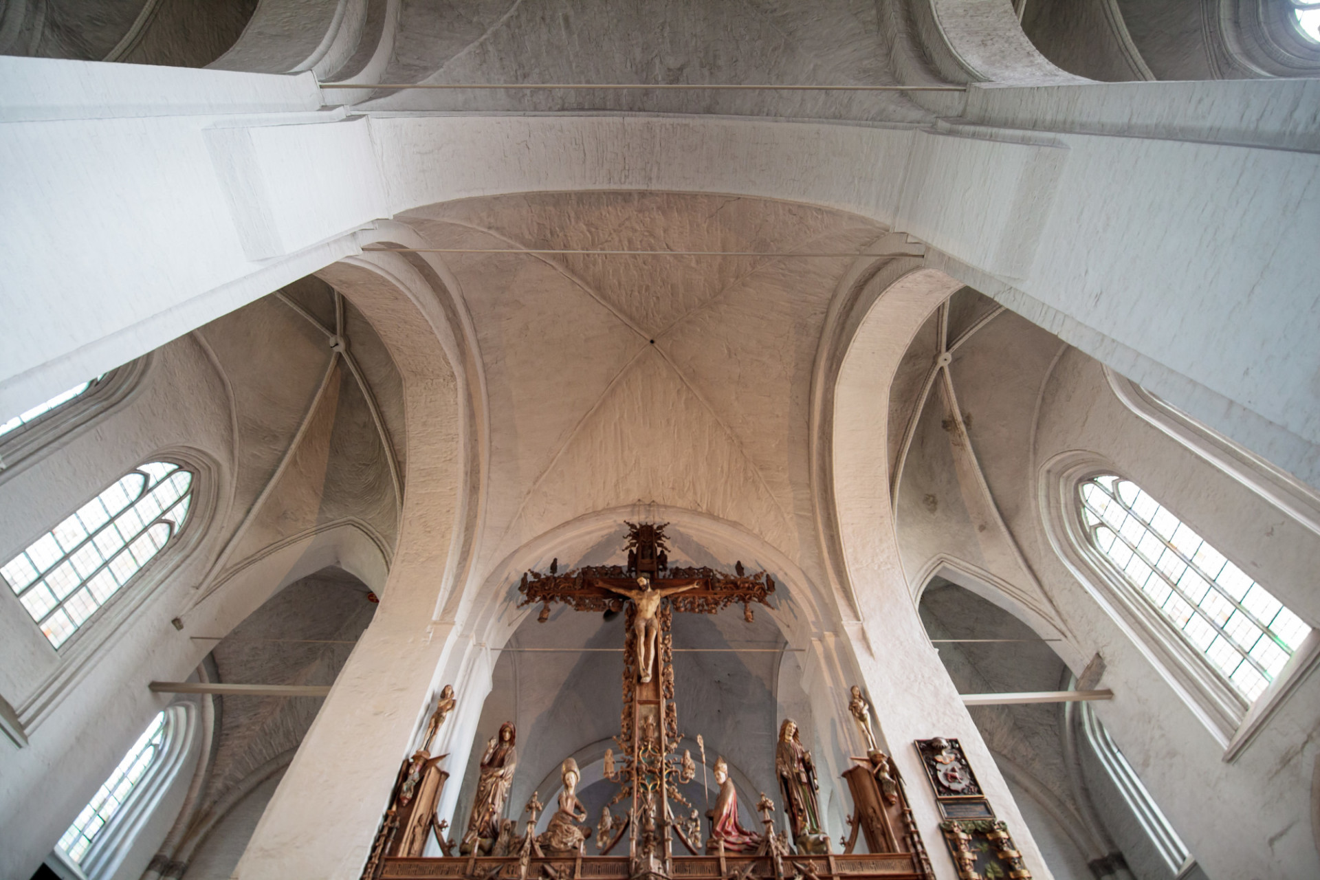Wonderful architecture of the cathedral in Lübeck