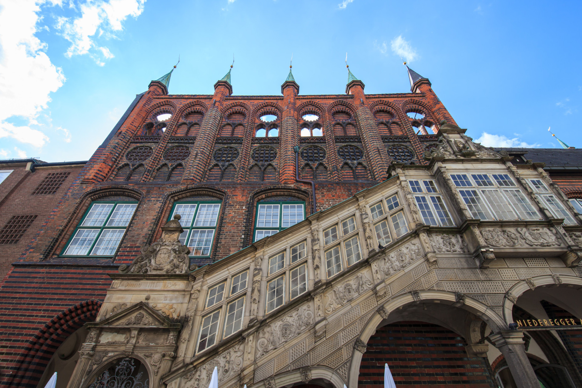 Unique historical town hall in Lübeck