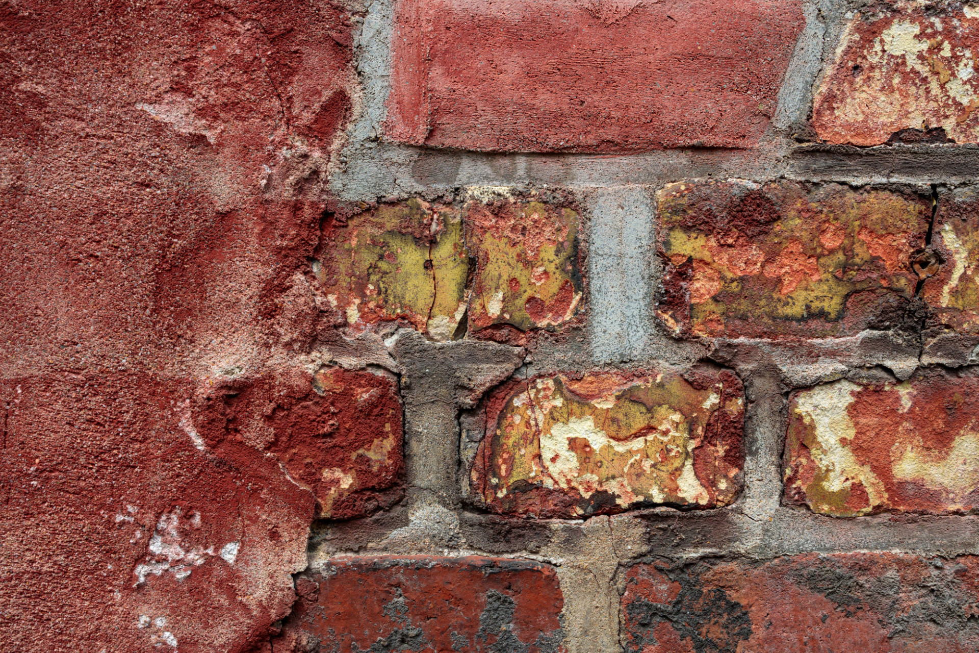 Red old grunge brick wall texture