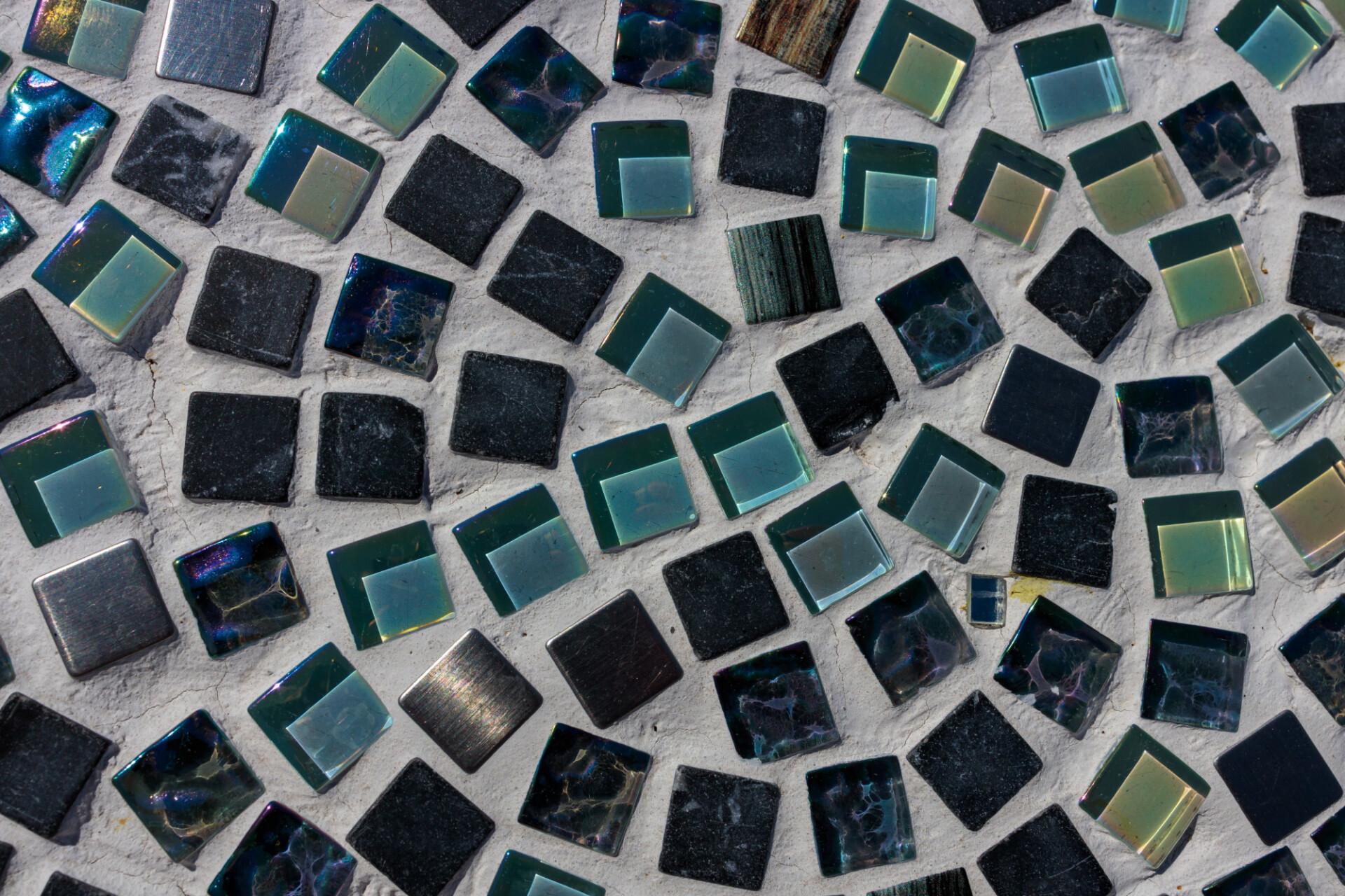Mosaic tile chip texture