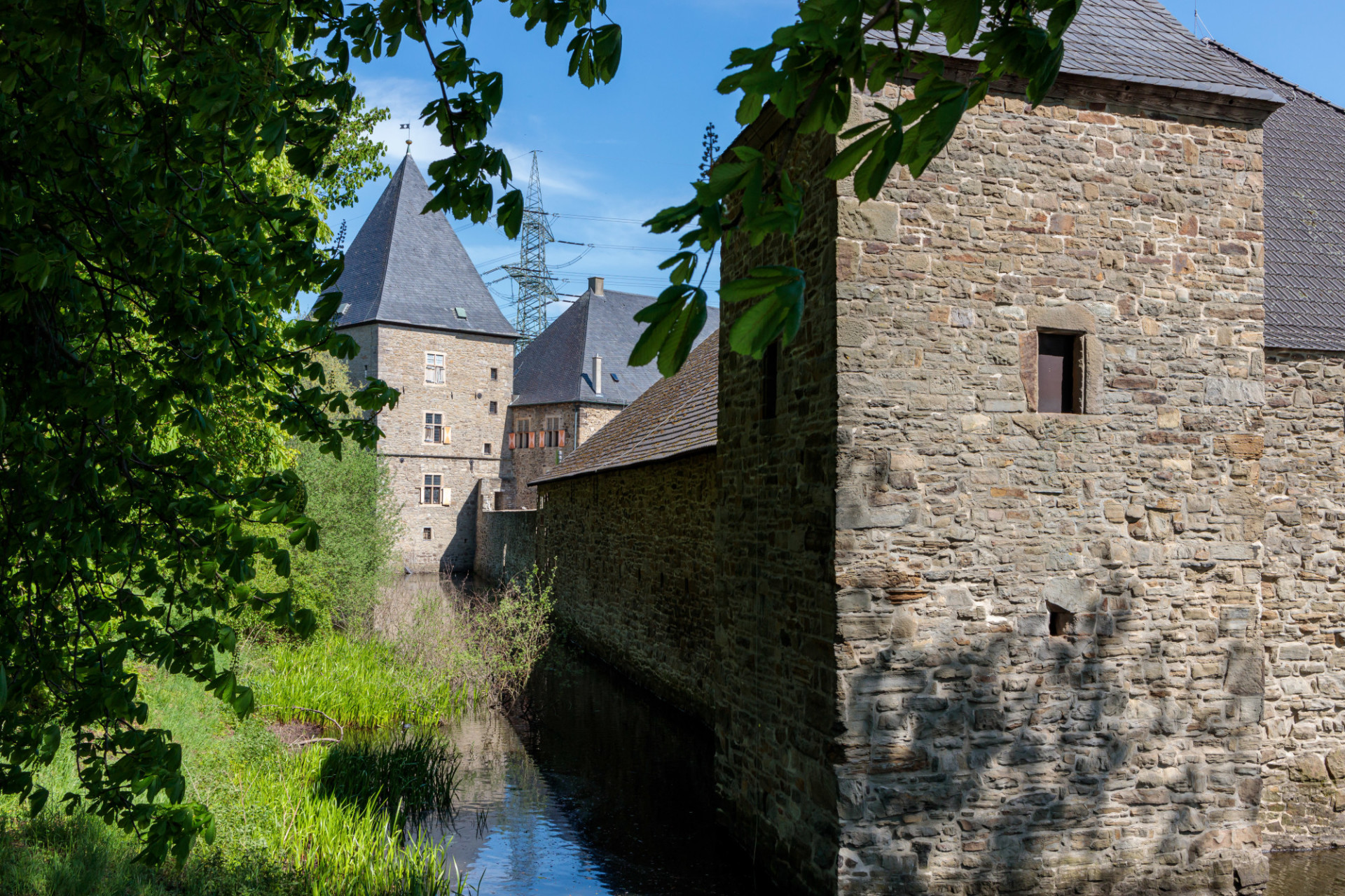 Castle with moat in Germany - Haus Kemnade
