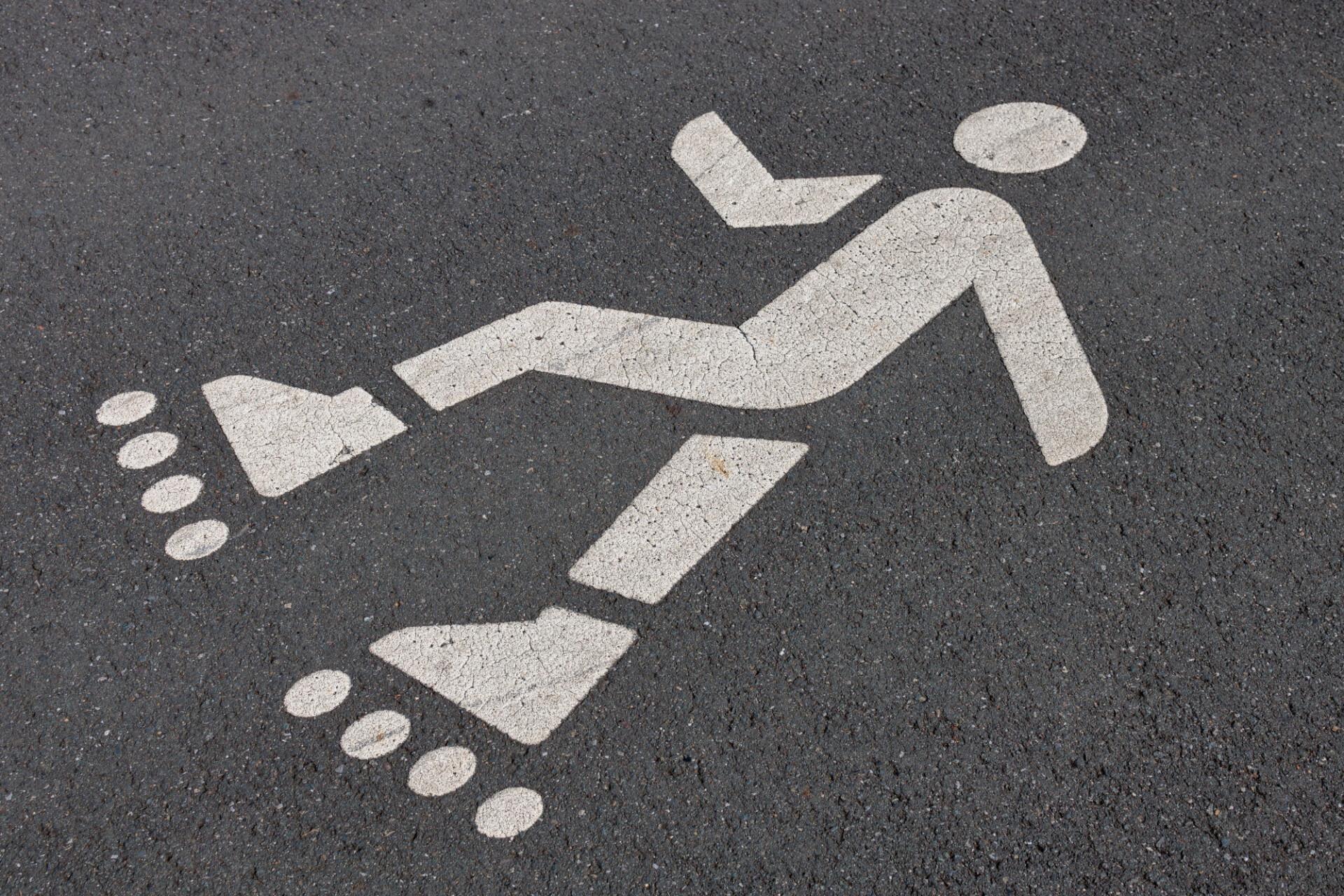 inline skater sign