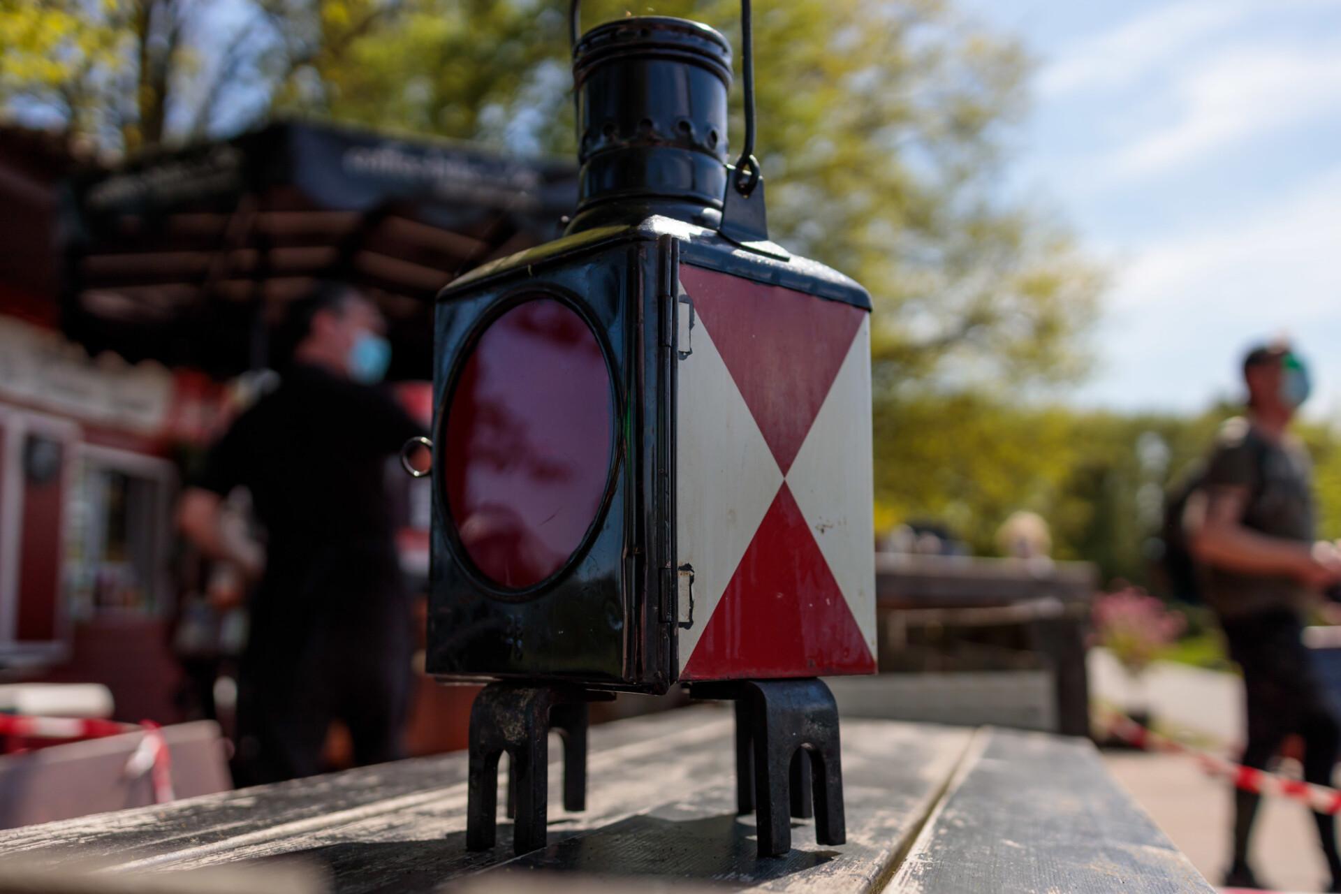 Old vintage train lantern