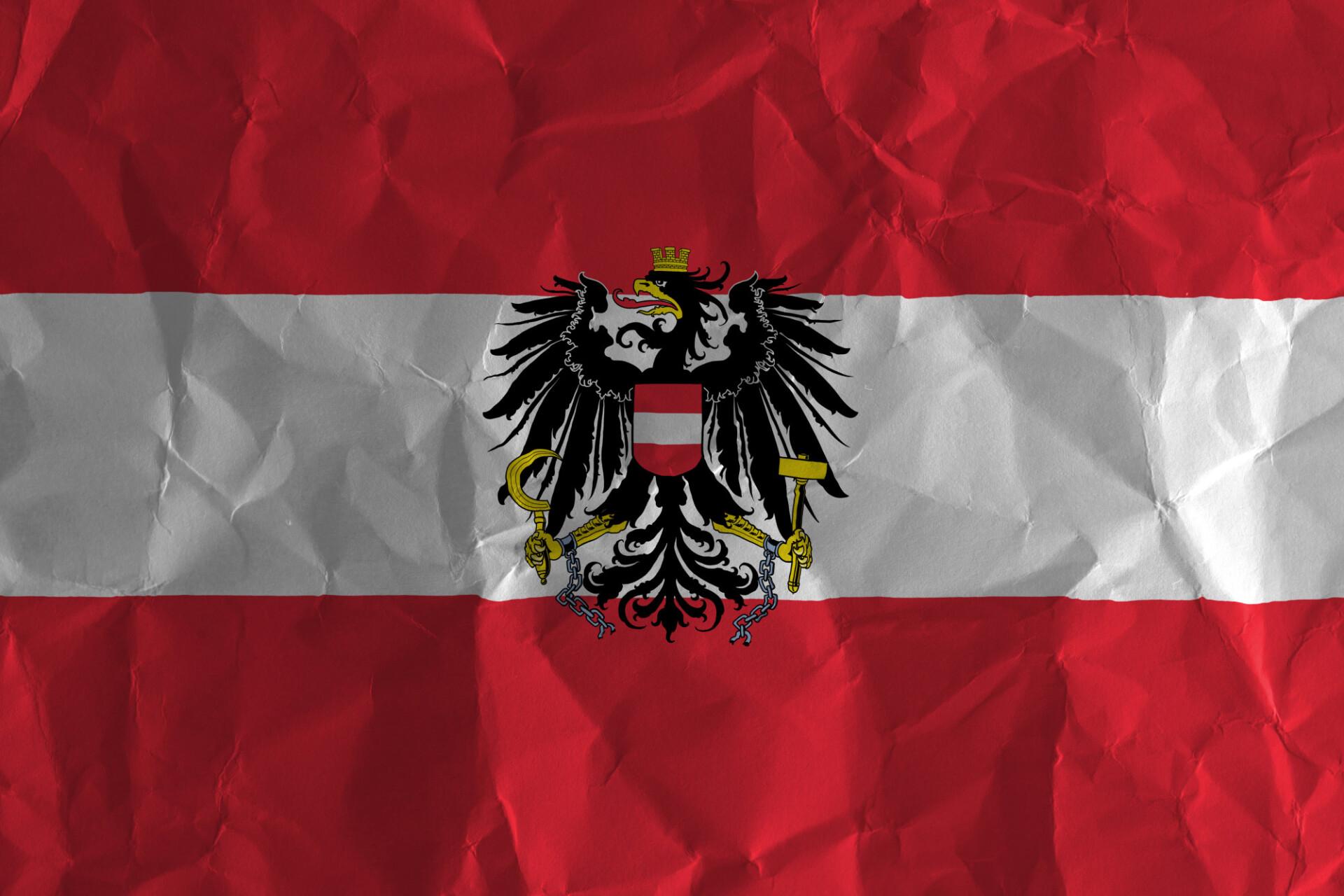 austria crumpled flag