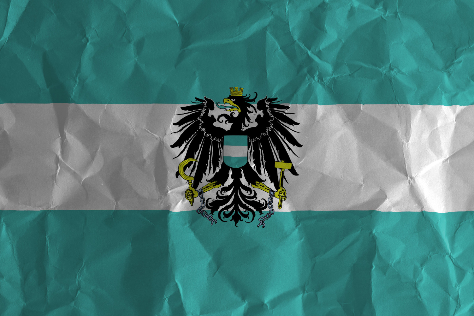 Turquoise Austria flag