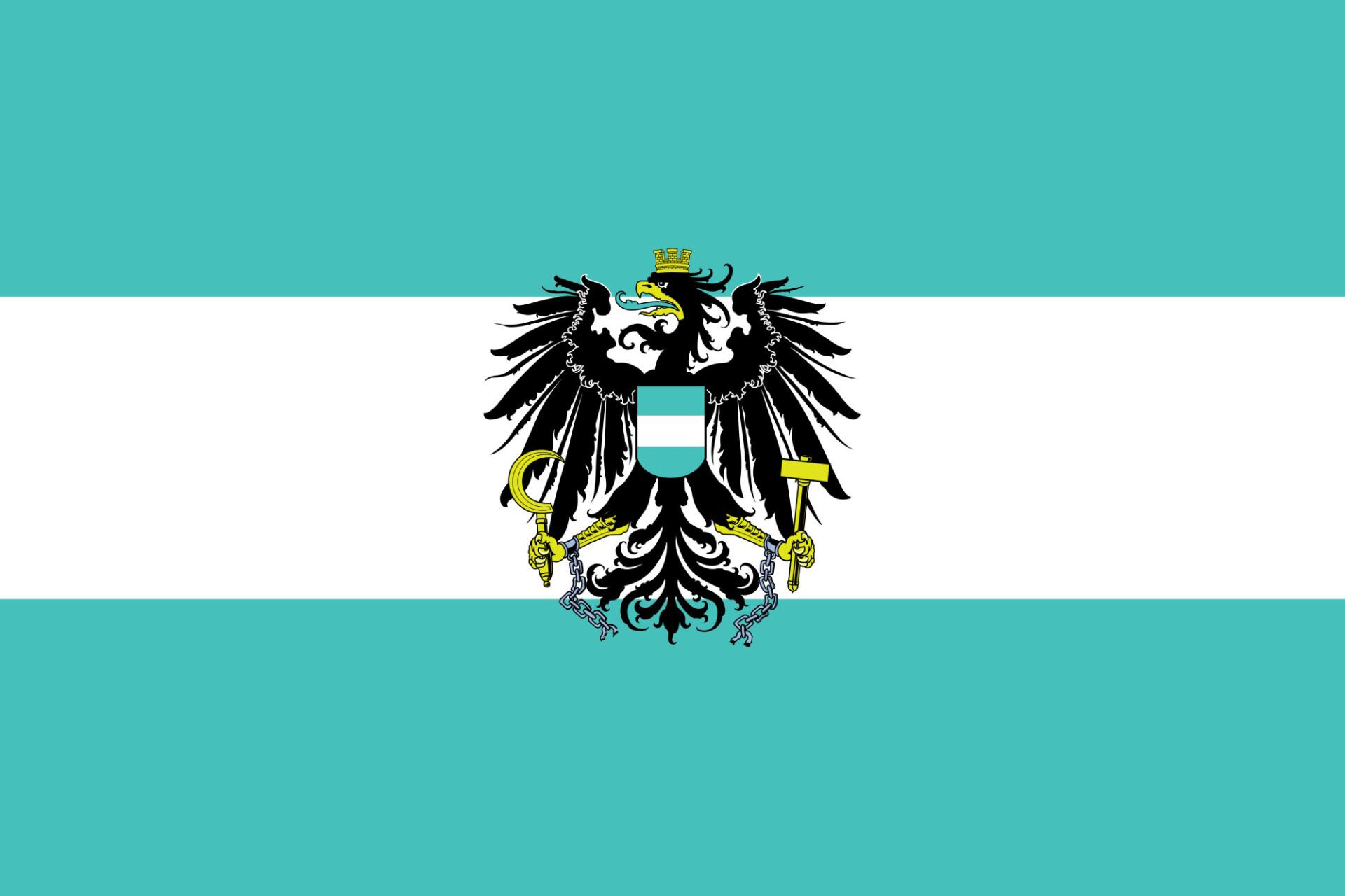 Turquoise Austria flag - ÖVP
