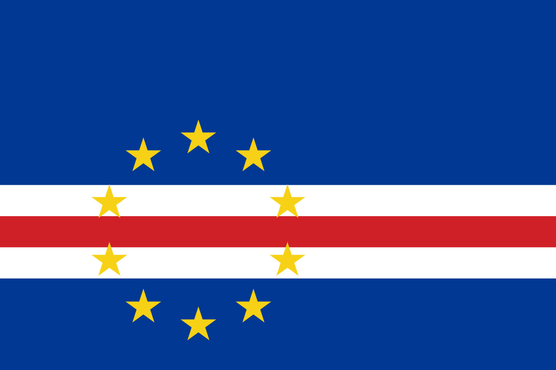 cape verde flag image and vector