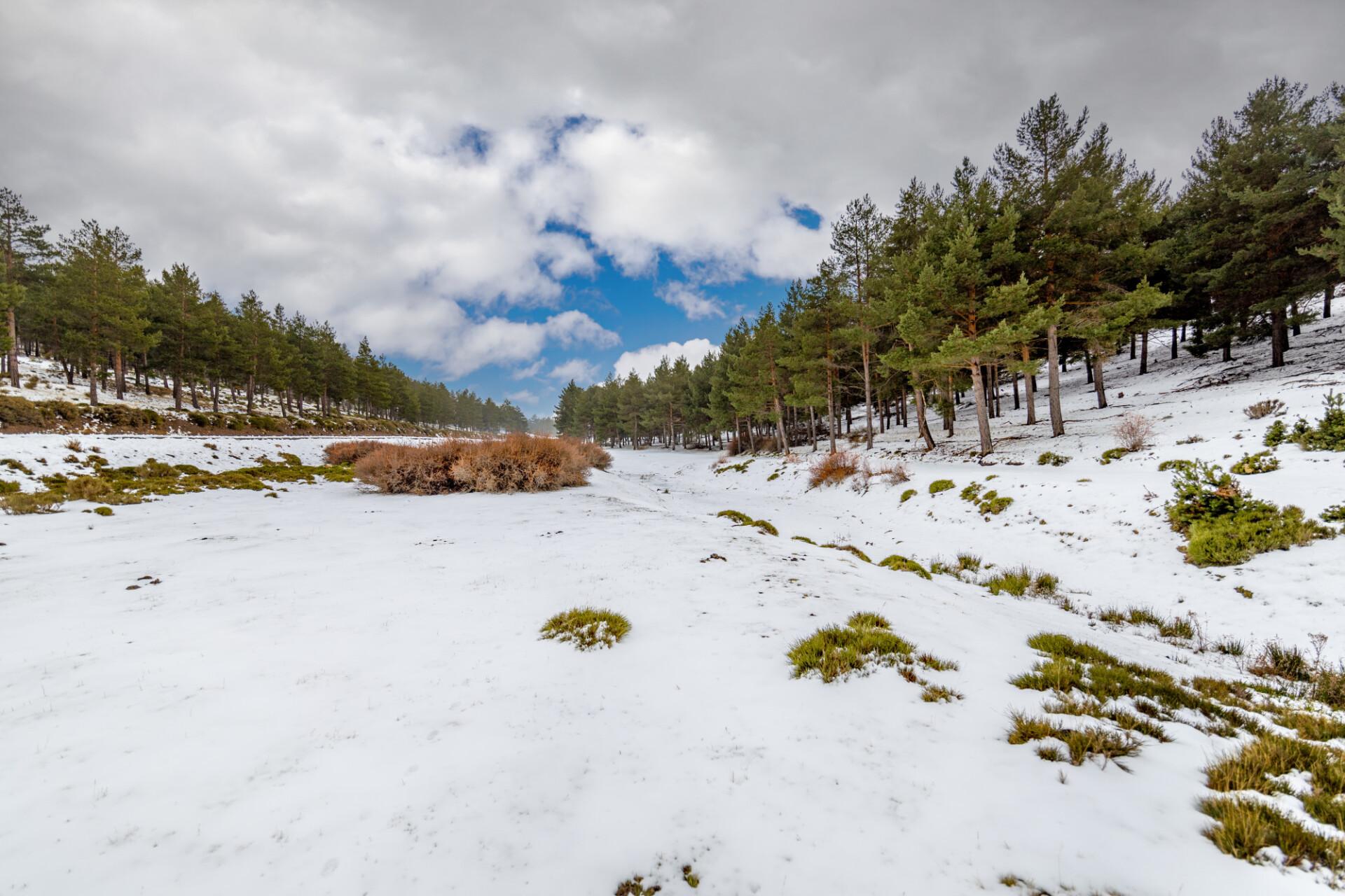Barranco Maja Caco wrapped in snow Landscape