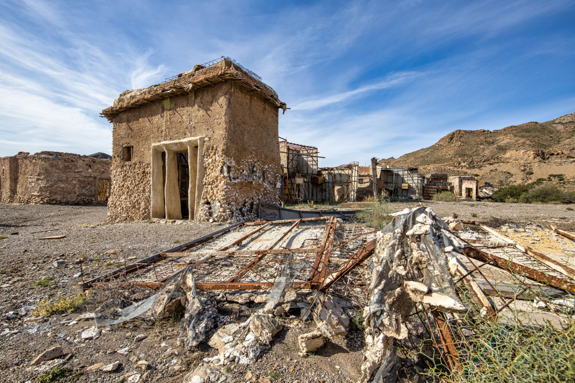Abandoned village in Andalusia Spain