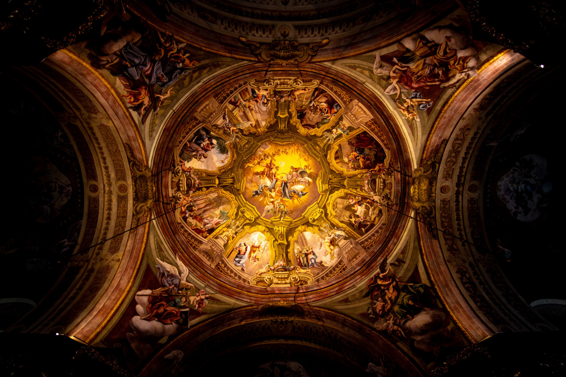 Ceiling painting in a church
