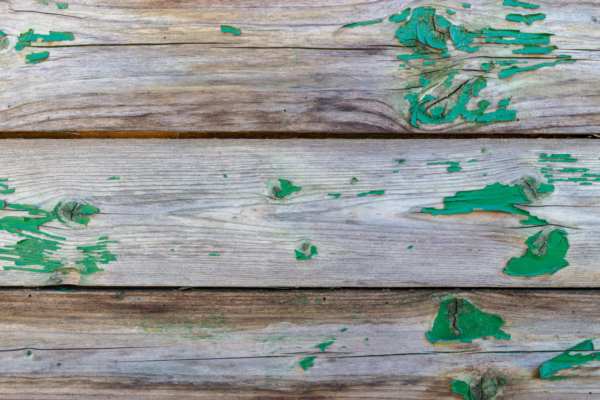 Wooden wall texture with peeling green colour