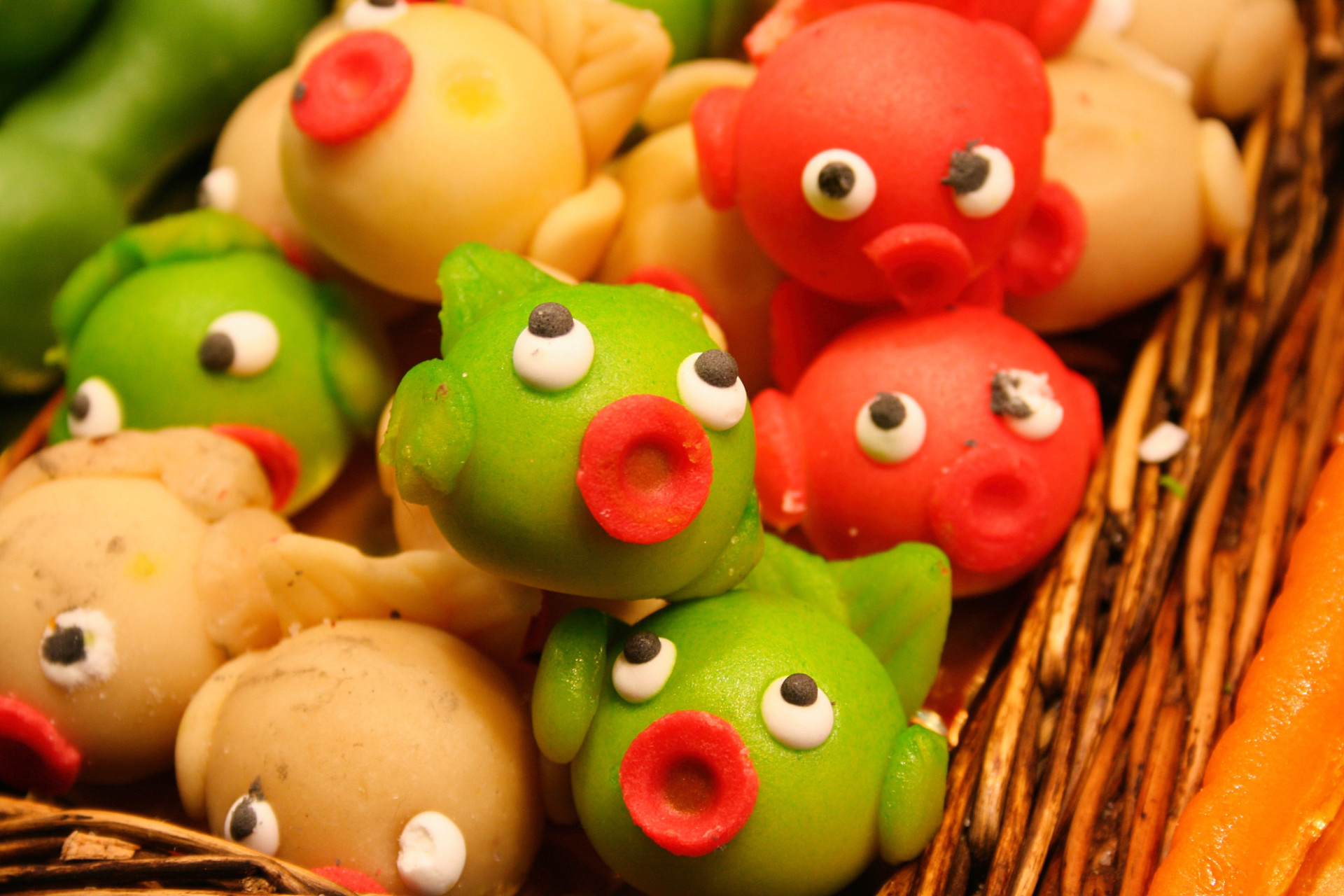 marzipan fishes