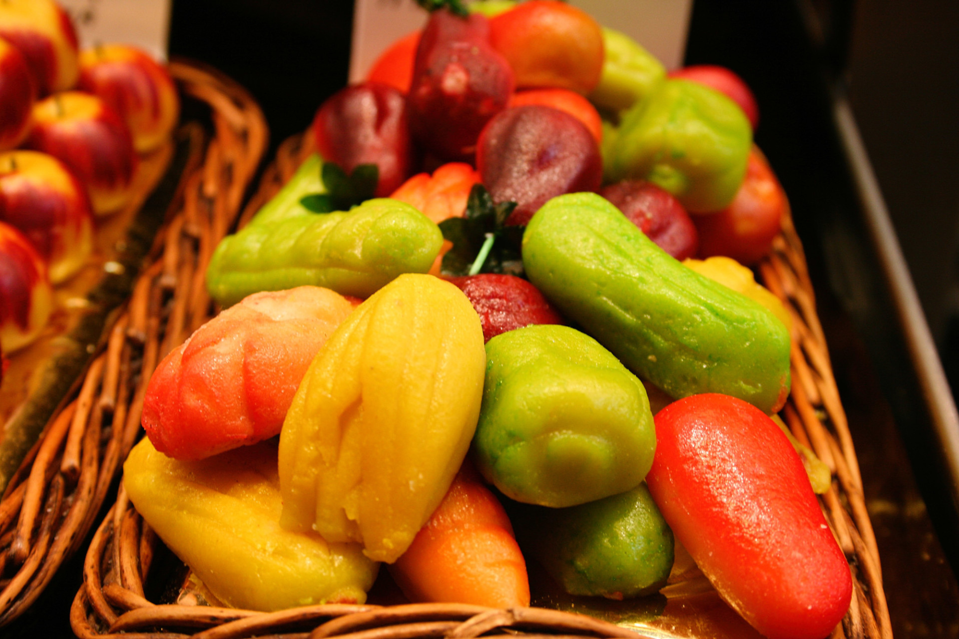 marzipan vegetables