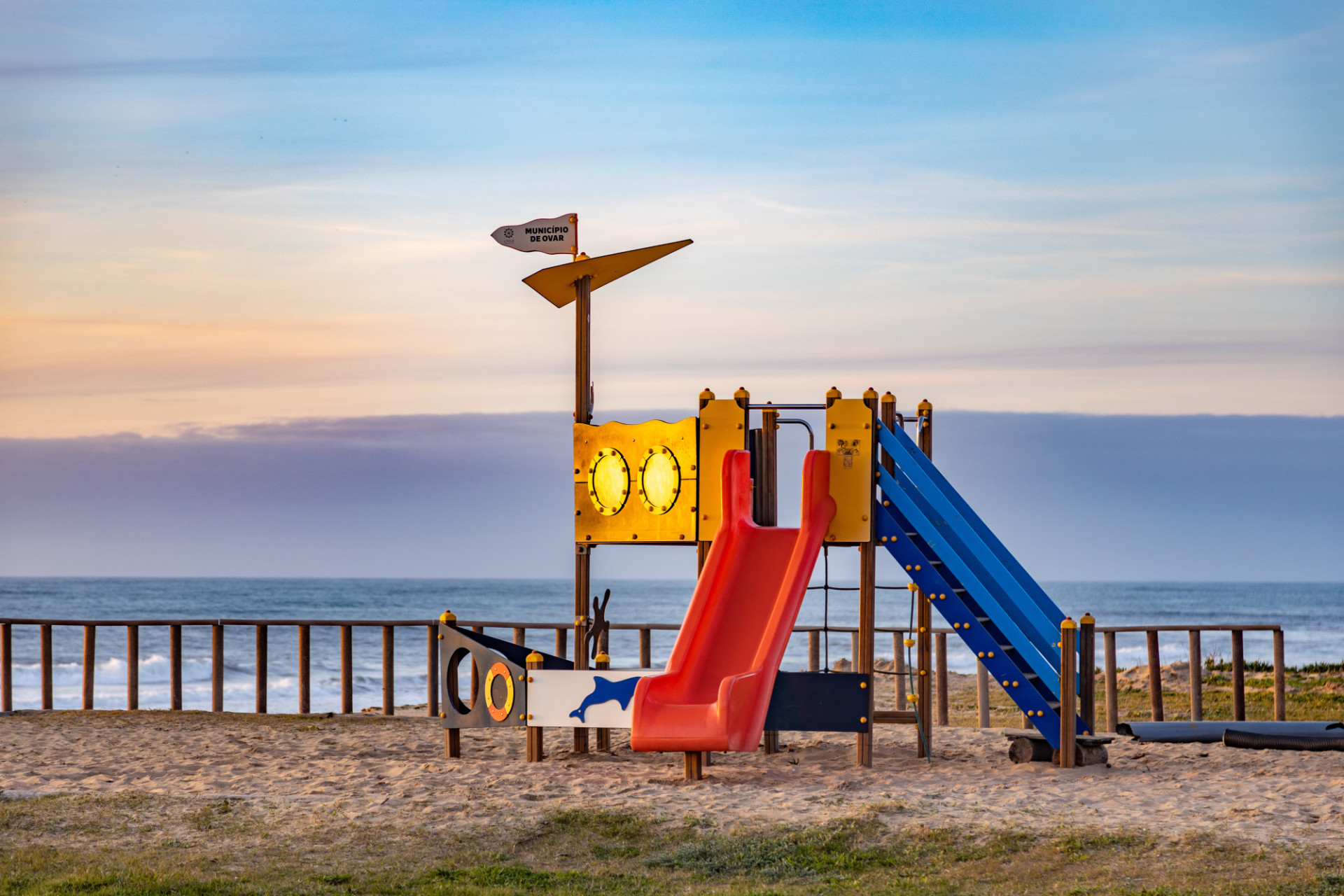 Playground on the beach in Spain