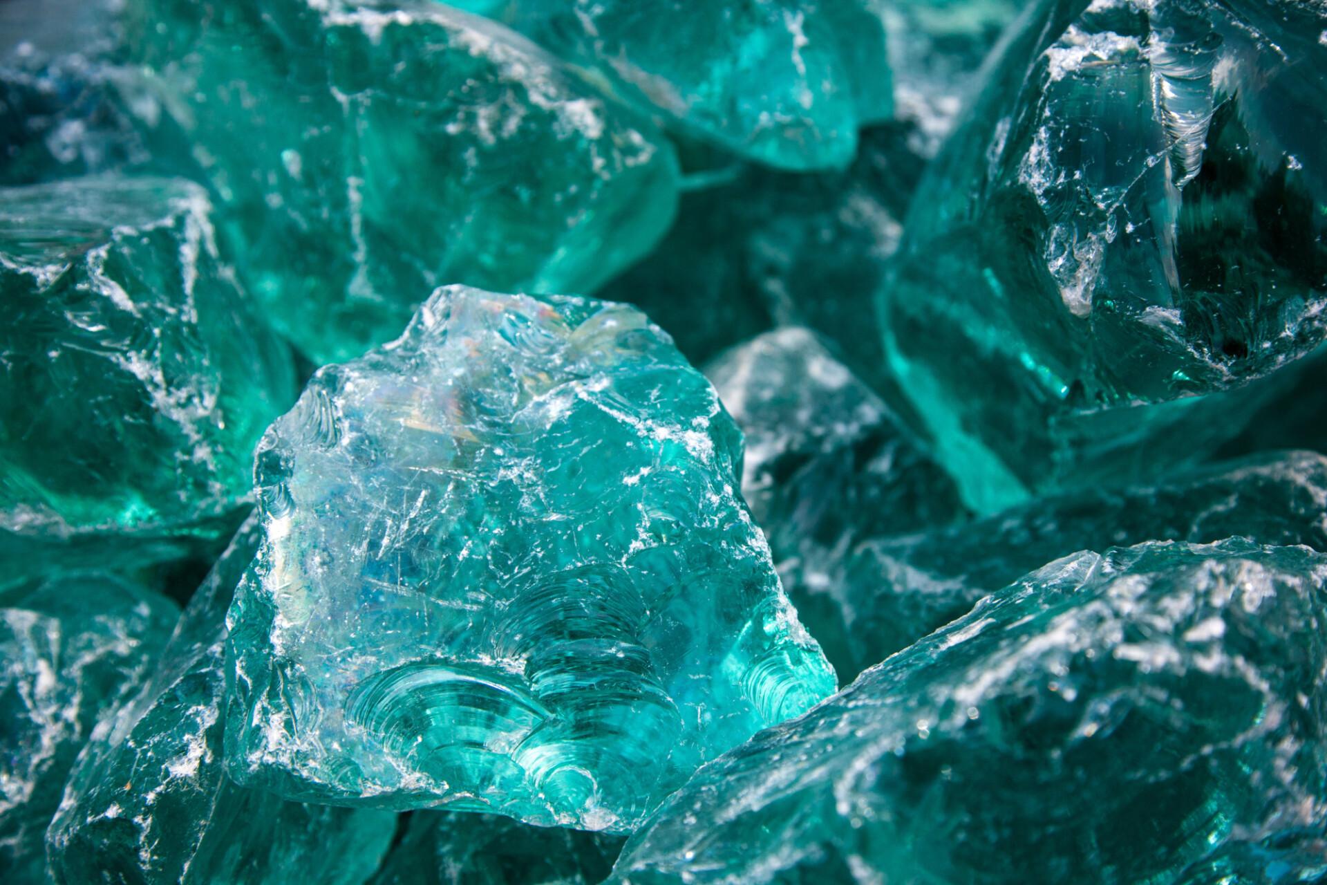 turquoise glass stone