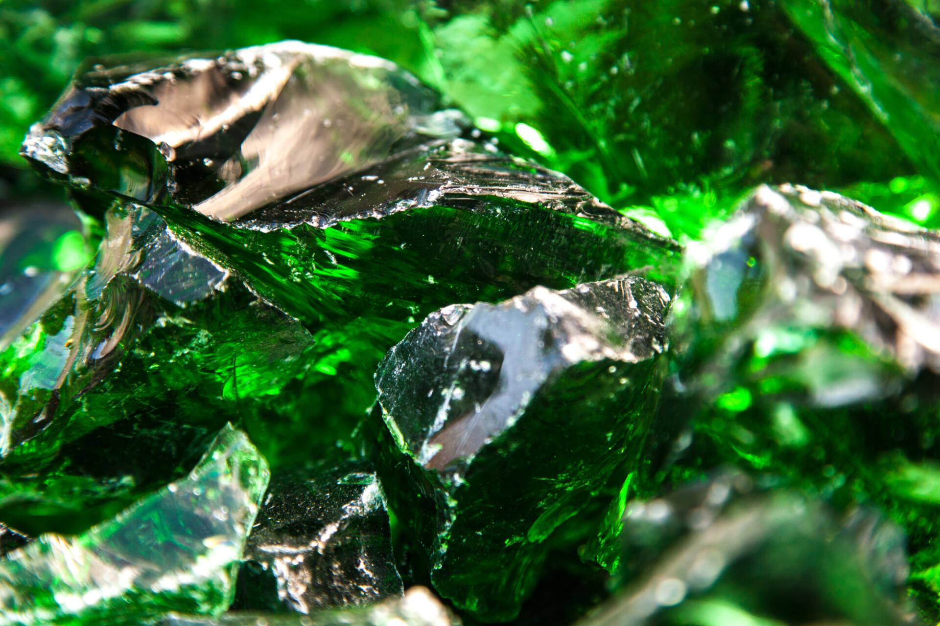 green glass stone